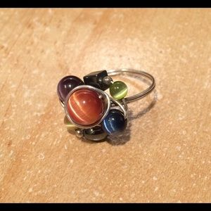 Jewelry - Silver Wire and Stone Wrapped Artisan Ring